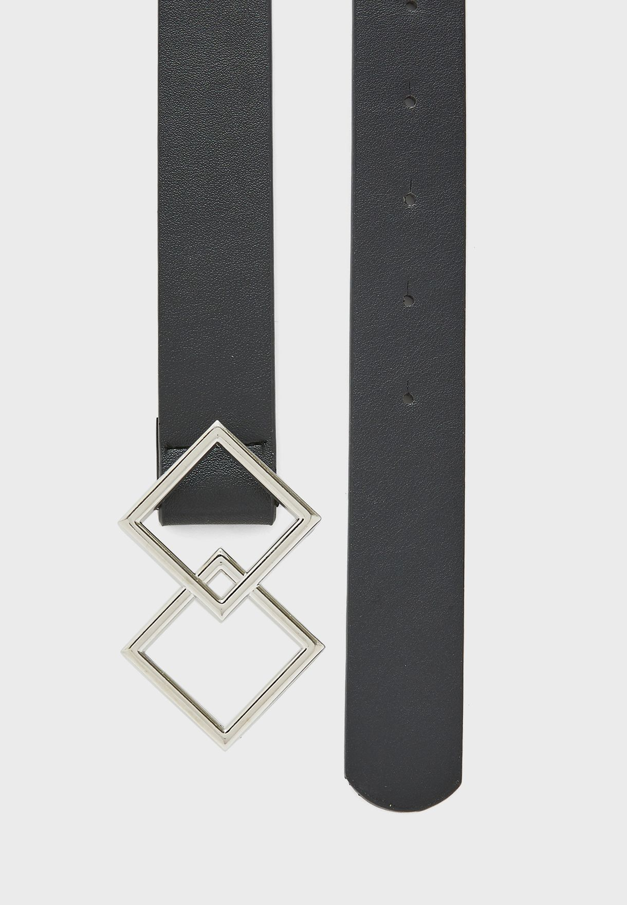 Double Diamond Buckle Belt