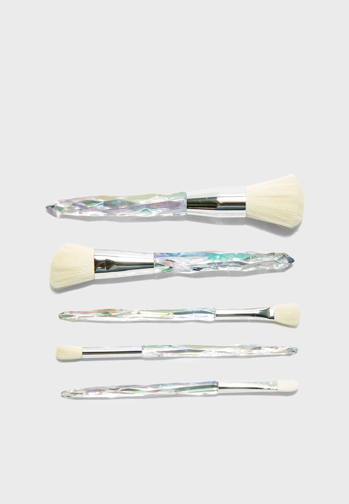 5 Pack Ombre Makeup Brush Set