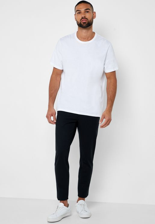 Mark Striped Slim Fit Trousers