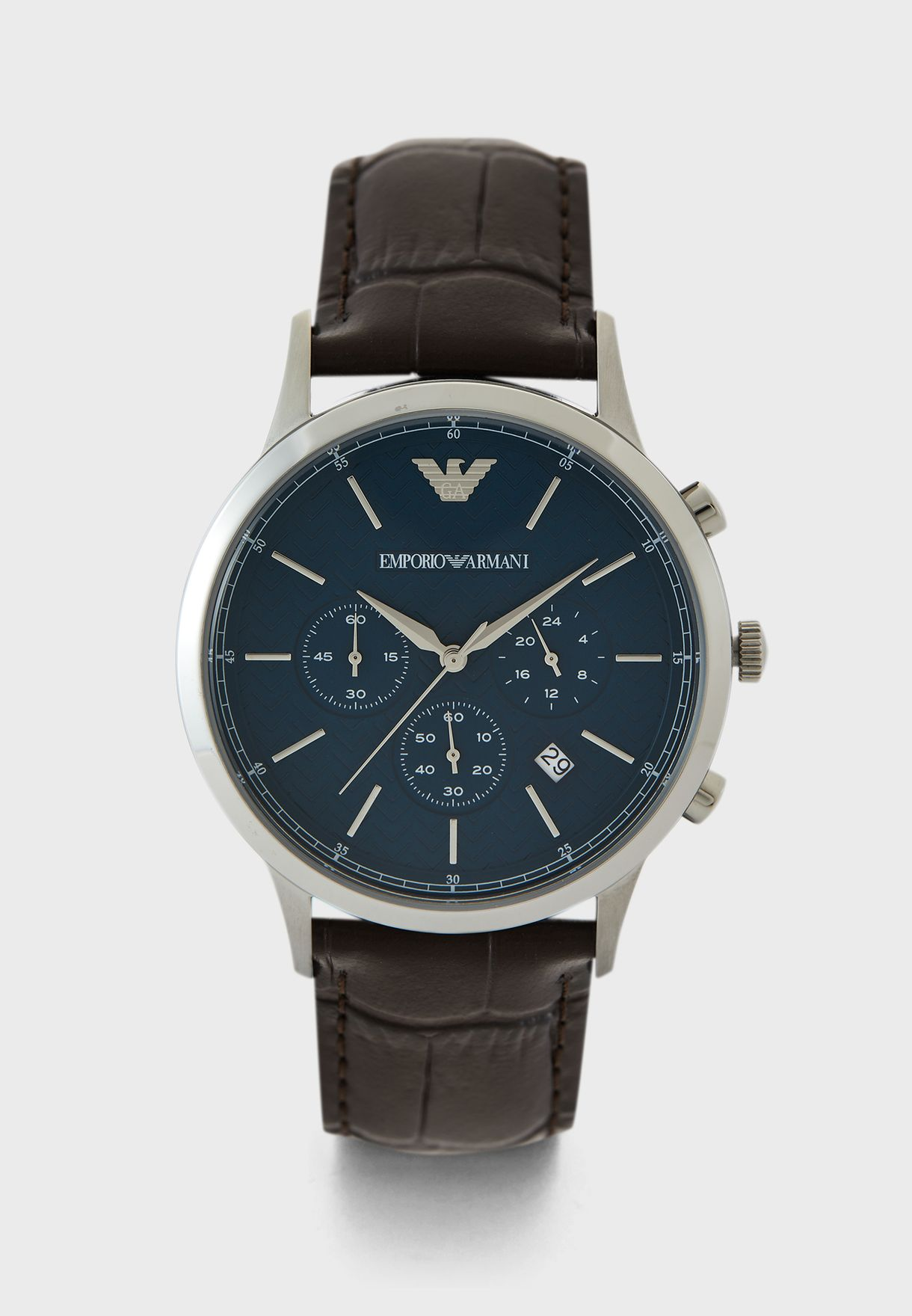 AR2494 Leather Strap Analog Watch