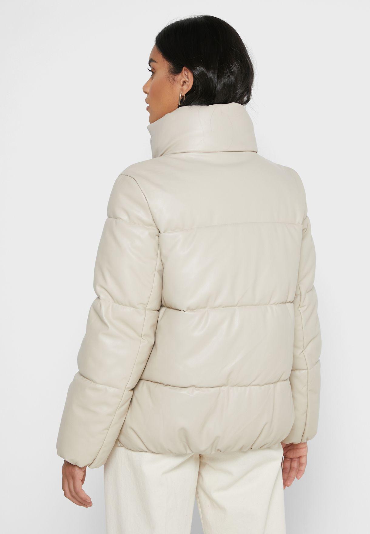 Zip Through Quilted Jacket
