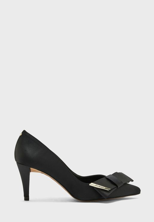 Affra Satin Bow High Heel Pump