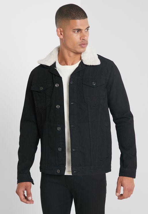 Fur Collar Denim Jacket