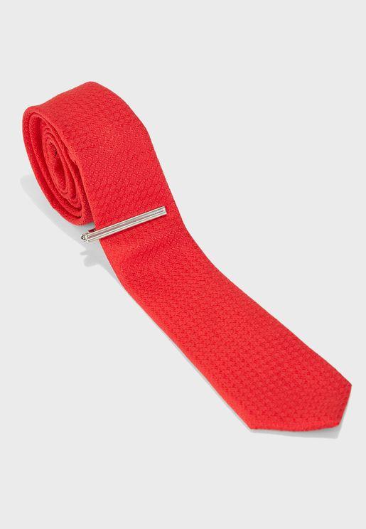طقم (رابطة عنق + مشبك)