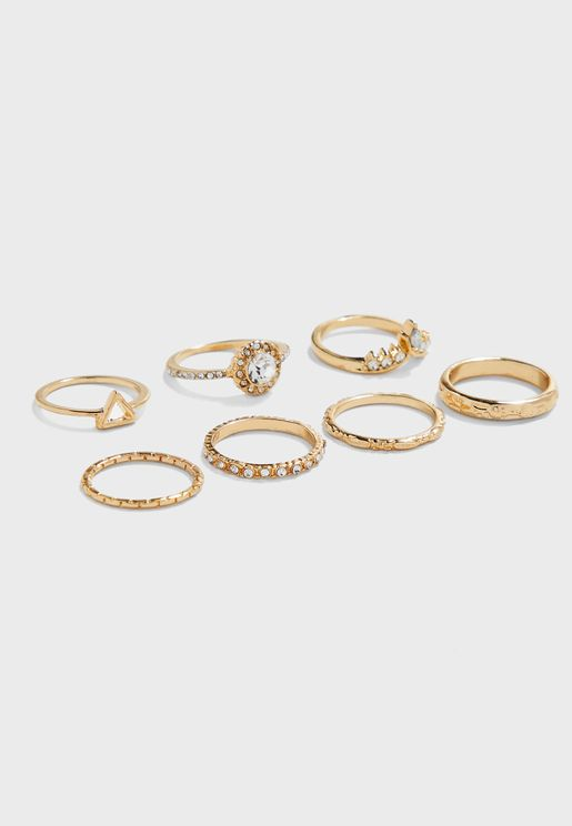 Stone Set Rings Multipack