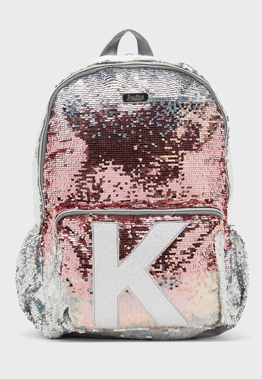 Kids Flip Sequin Initial Backpack