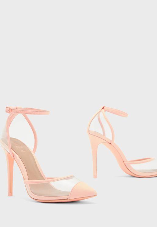 Bisous Ankle Strap High Heel Sandal