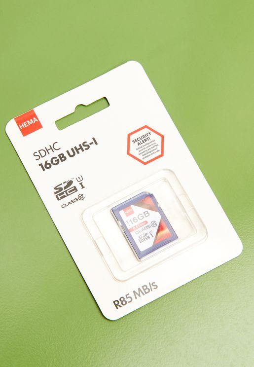 بطاقة SD 16 غيغابايت