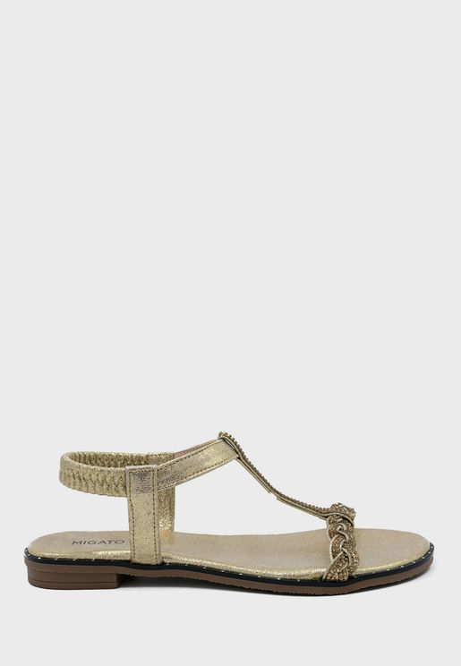 Ankle Strap Flat Sandal