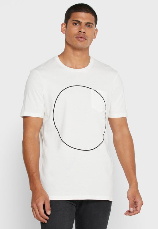 Circle Detail Crew Neck T-Shirt