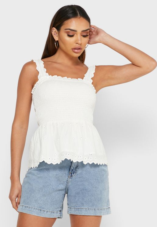 Peplum Smock Top