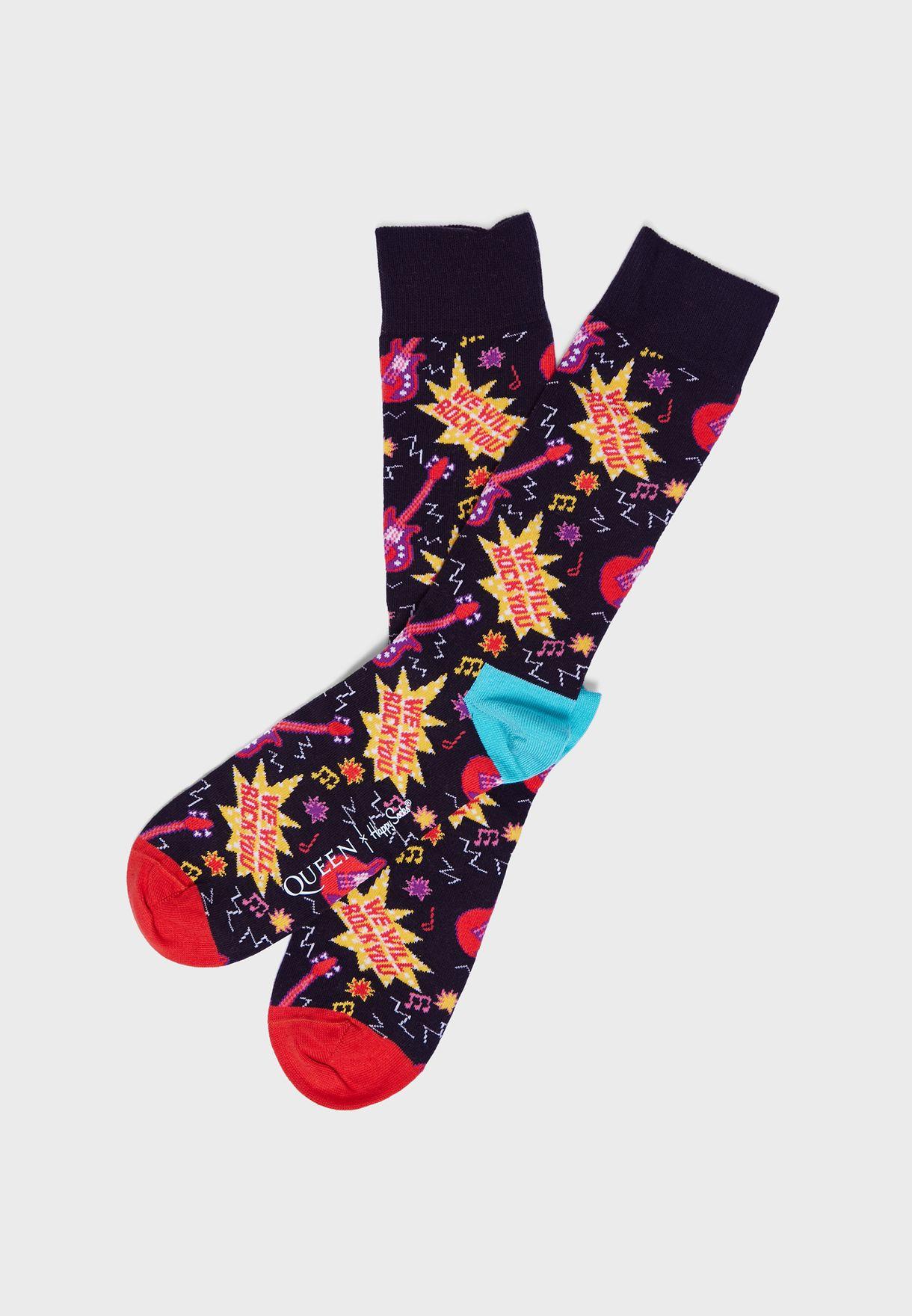 4 Pack Queen Crew Socks