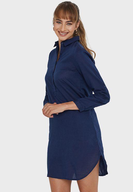 Button Detail Knitted Dress