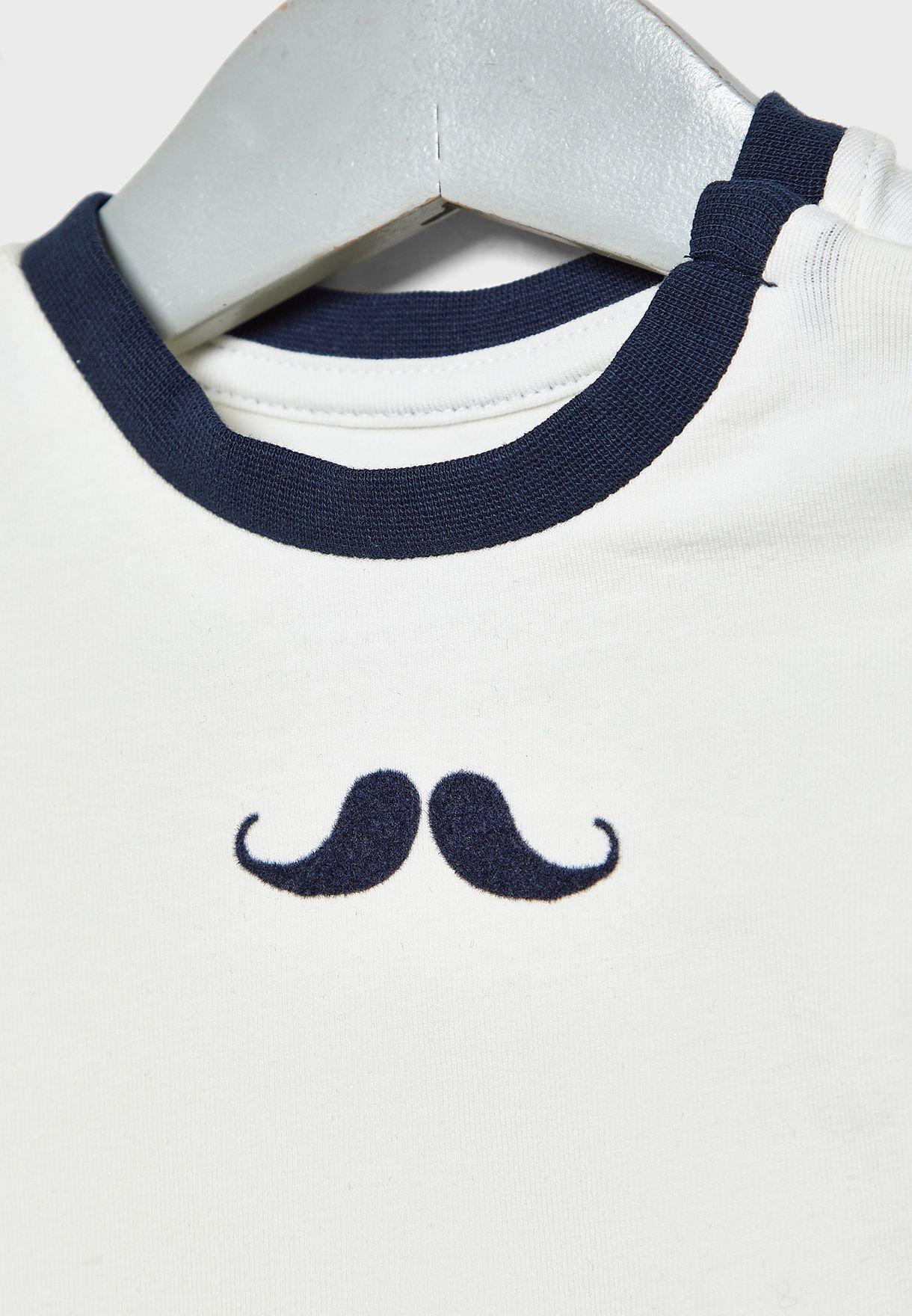 Infant Moustache Bodysuit
