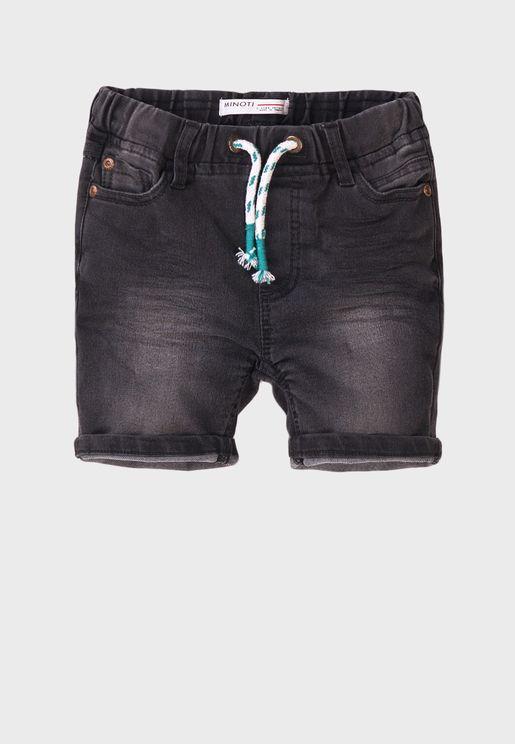Infant Basic Knitted Denim Shorts