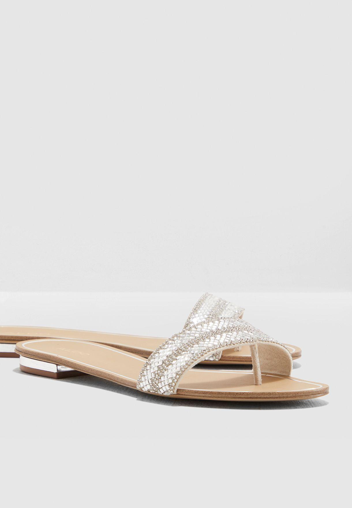 c853e29af Shop Aldo silver Cadilinna Sandal CADILINNA80 for Women in Qatar ...