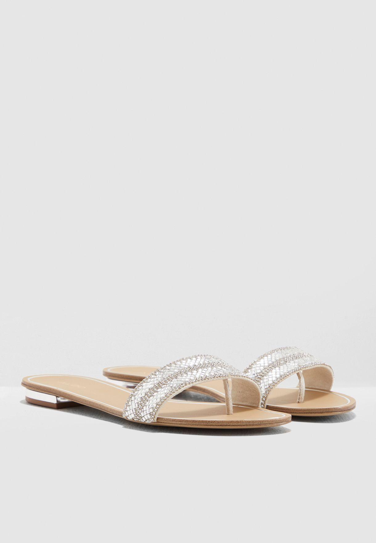 f33dc919ceee Shop Aldo silver Cadilinna Sandal CADILINNA80 for Women in UAE ...