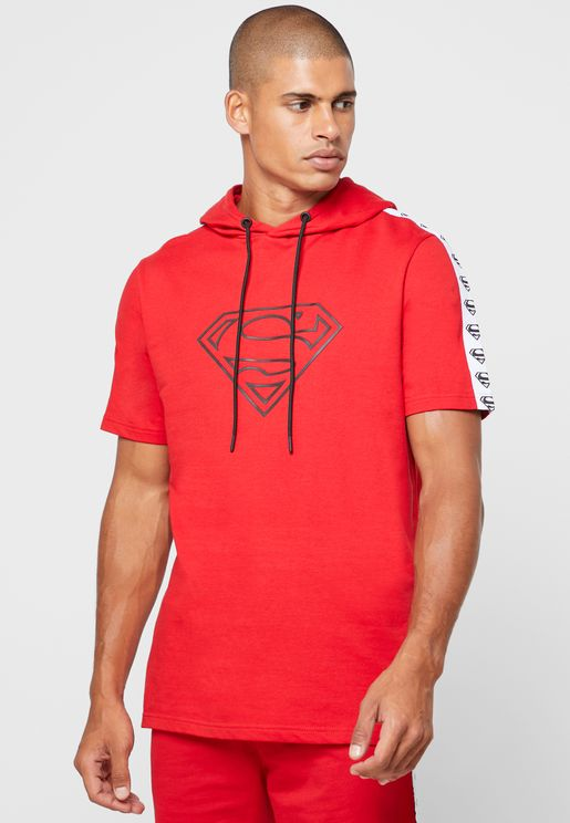Superman Logo Hooded T-Shirt