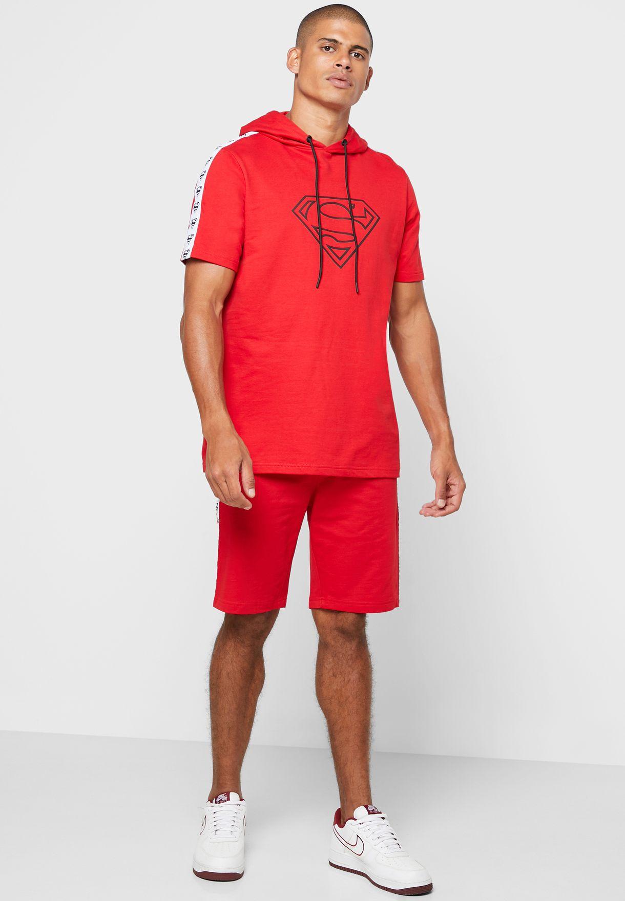 Superman Logo Hooded T-Shirt