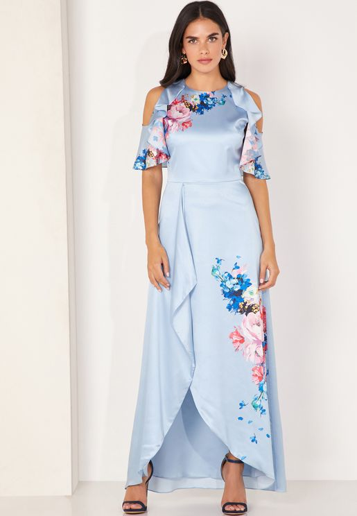 Fredila Ripple Frill Maxi Dress