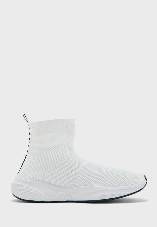 Knit High Top Sneaker