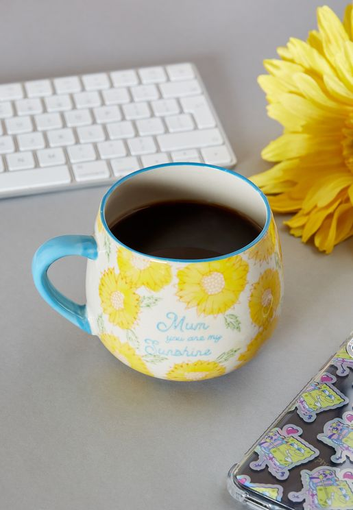 Sunflower Mum Blue Mug
