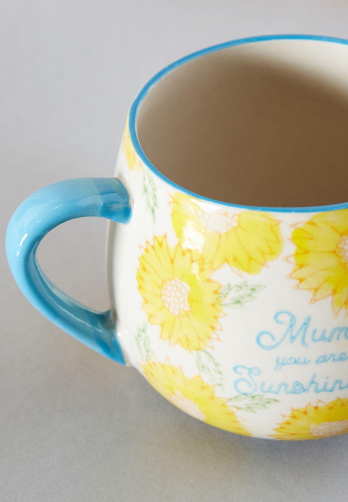 مج بطباعة Mum وزهور