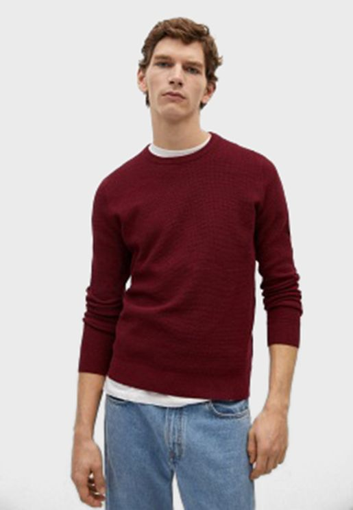Textured Knitted Sweater