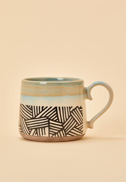 White Aztec Mug