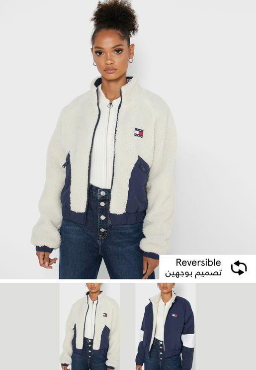 Zip Through Colorblock Jacket