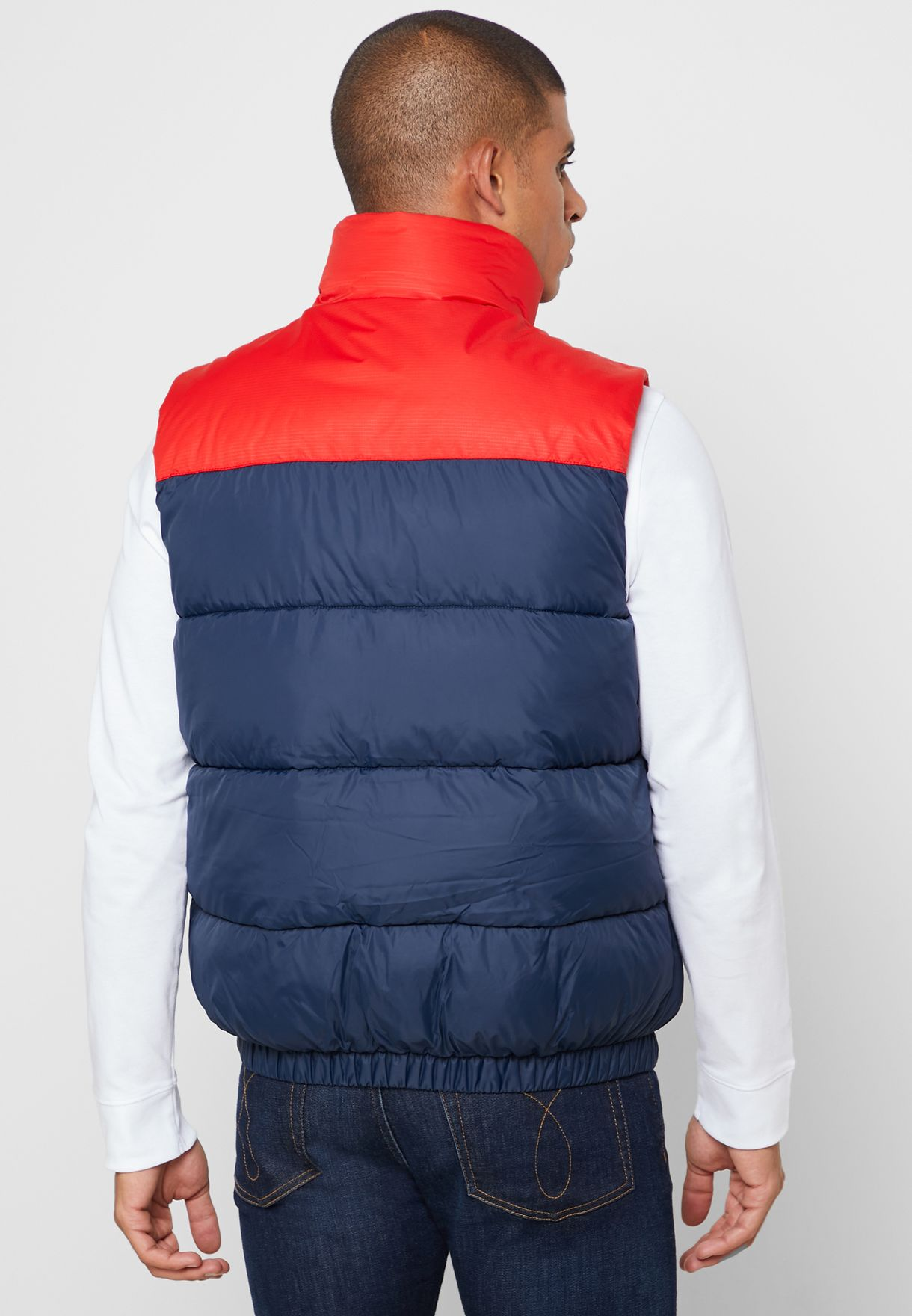 Color Block Padded Gilet