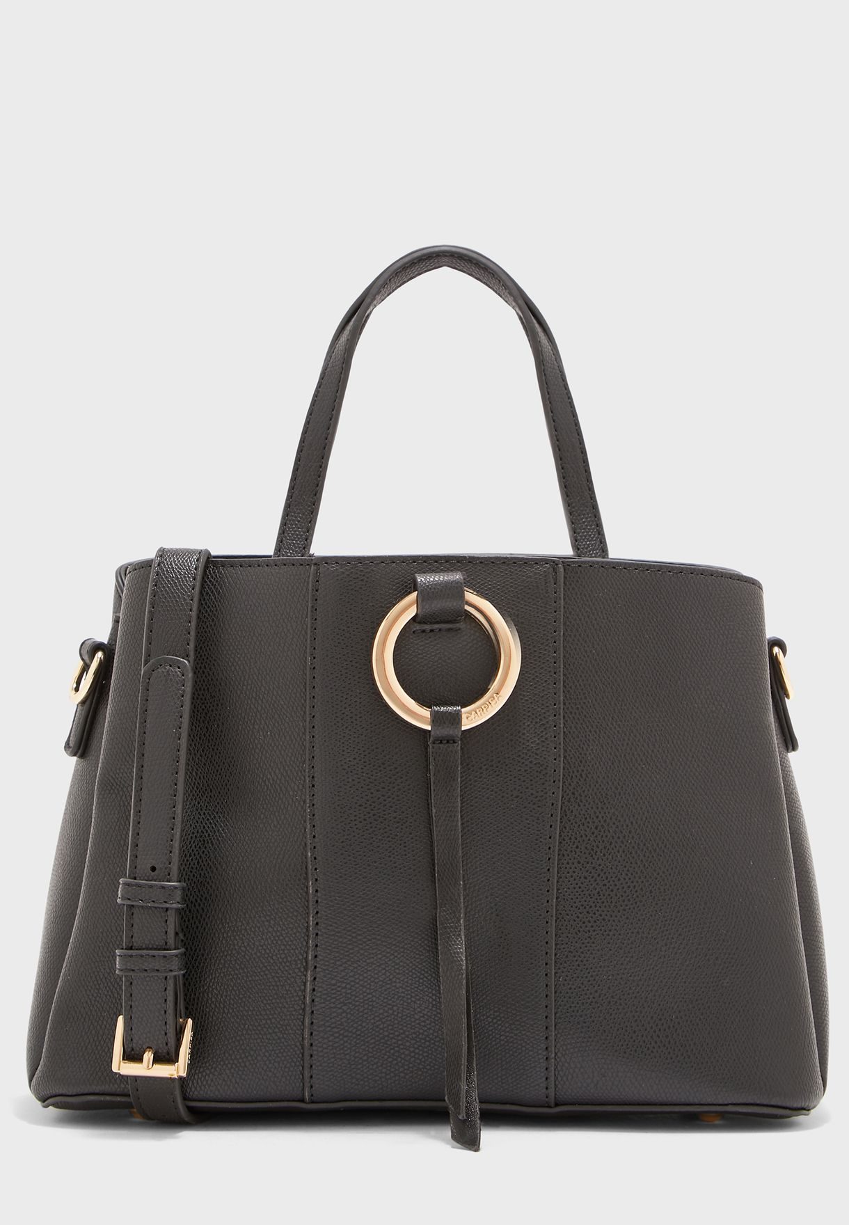 Berry Ring Detail Belted Shopper Bag