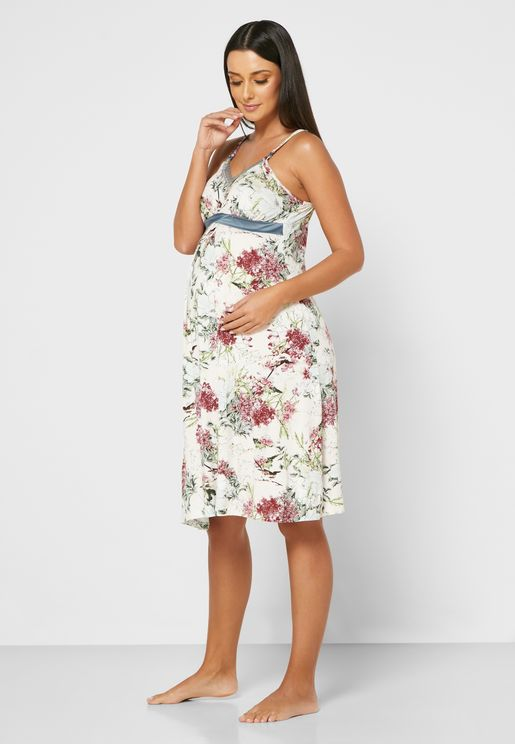 Floral Printed Cami Nightdress