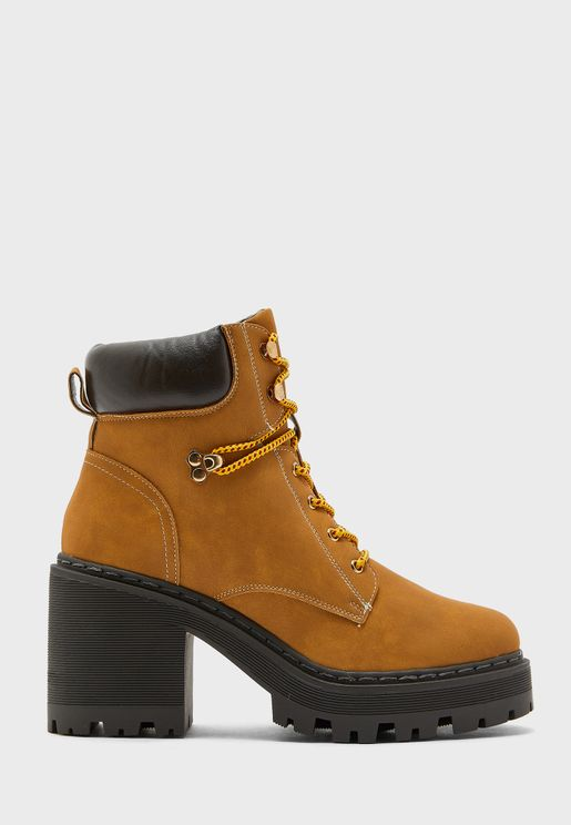 Chunky Heel Hiker Boot
