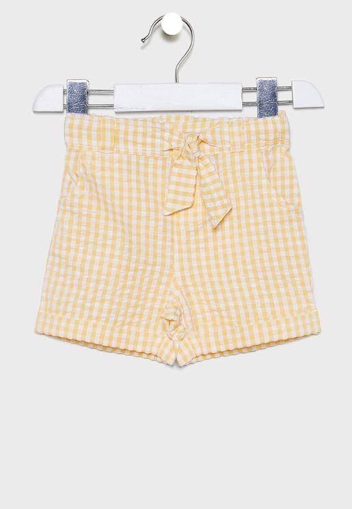 Kids Pretty Gingham Seersucker Shorts