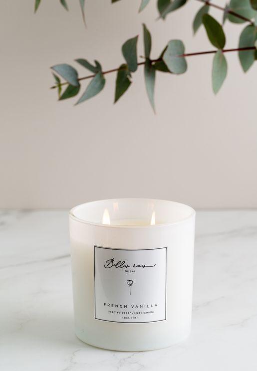 French Vanilla Coconut Wax Candle 14Oz