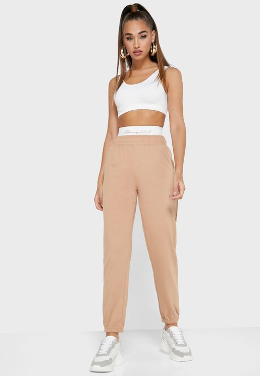 Missguided Script Tape Jogger