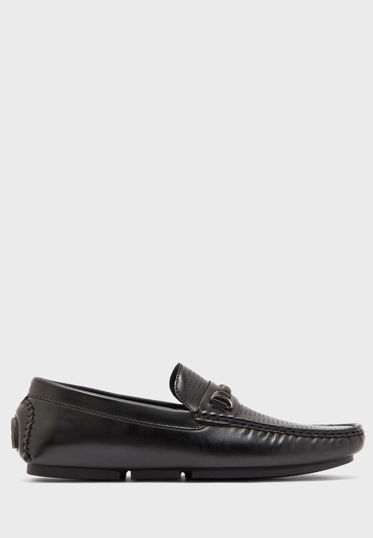 Saddle Detail Loafers