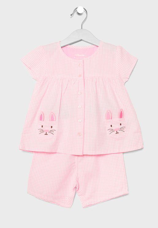 Kids Bunny Pyjama Set