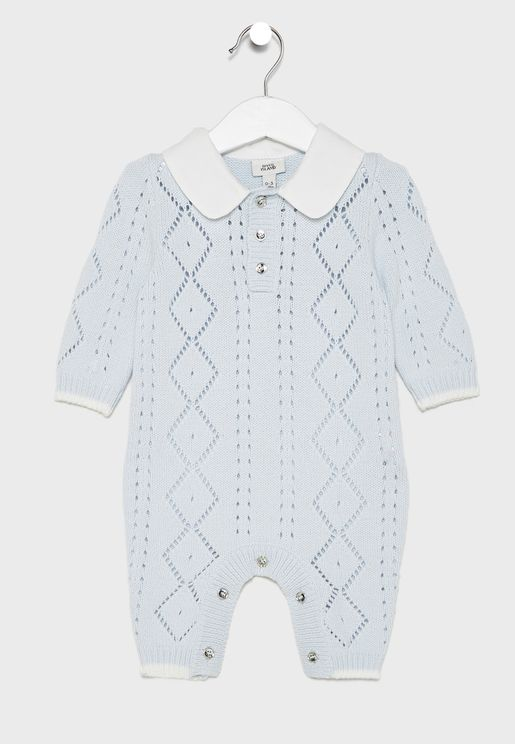 Infant Woven Collar Romper