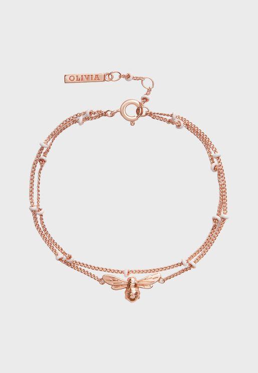 OBJAMB129 Lucky Bee Chain Bracelet