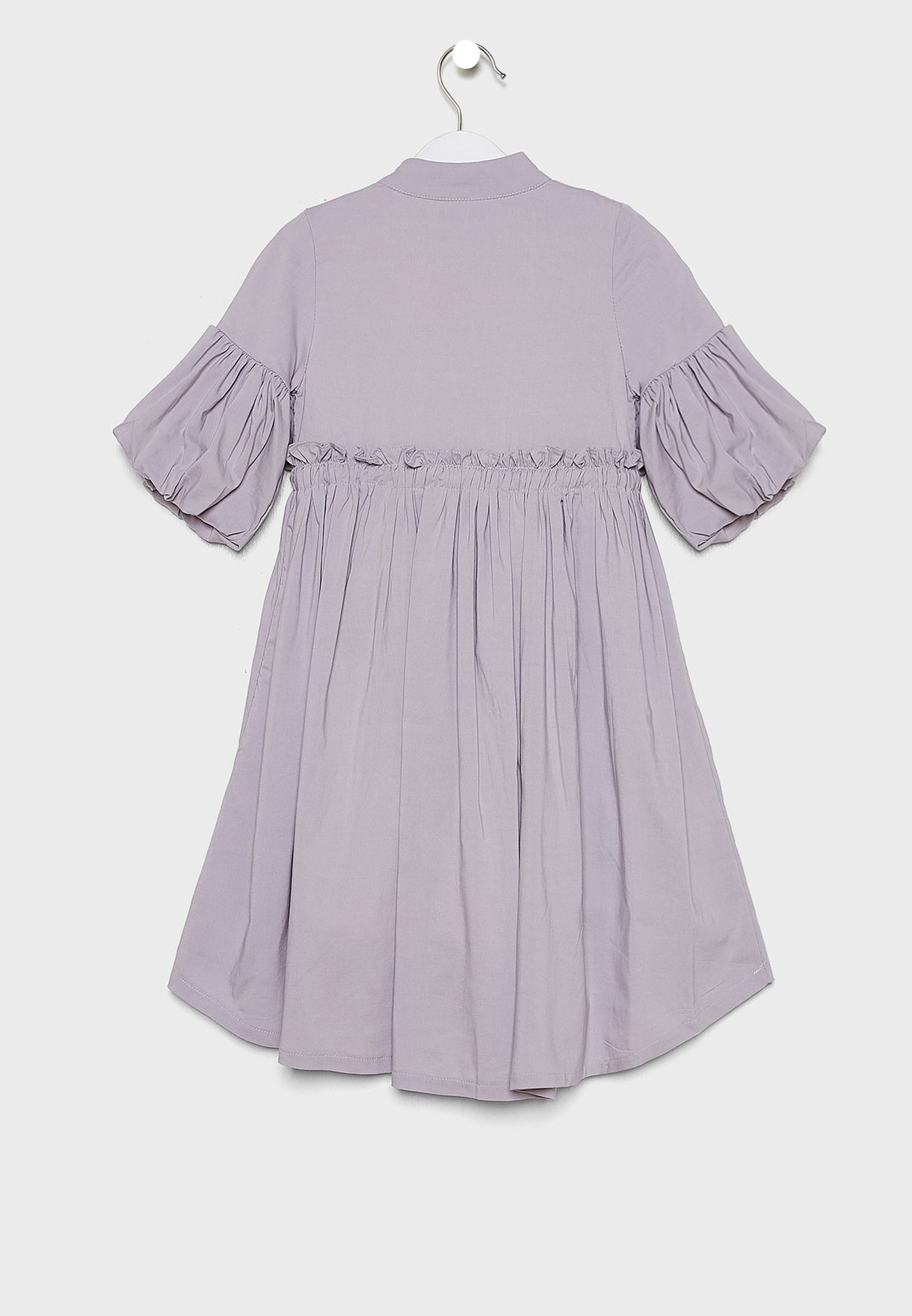 Kids Printed Dress With Crossbody