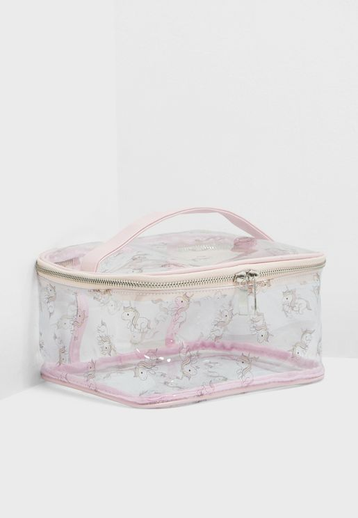 Unicorn Print Cosmetic Case