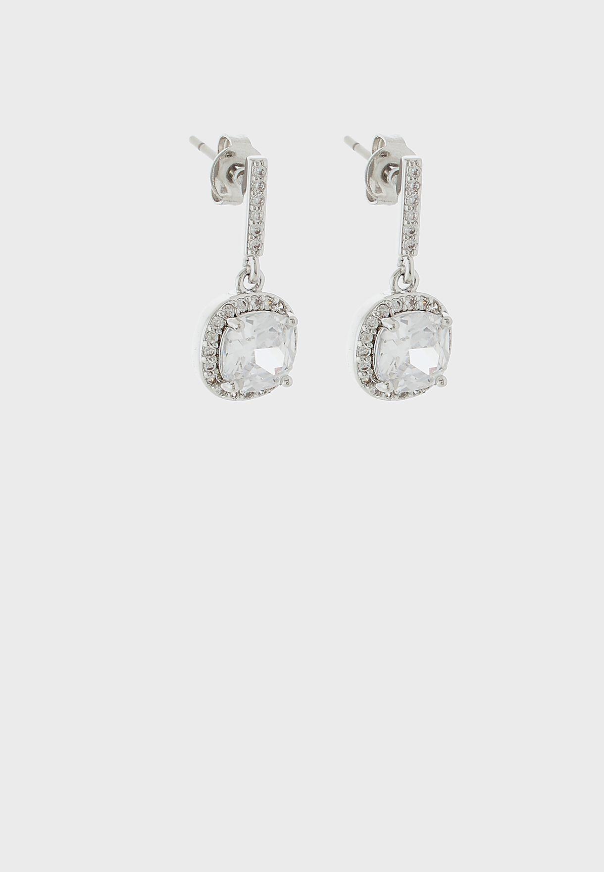 Cushion Drop Earrings