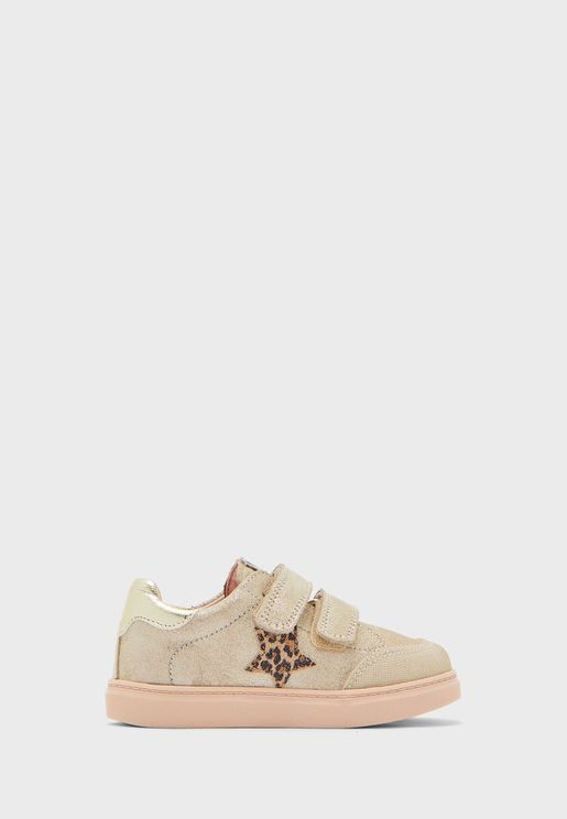 Infant Double Strap Glitter Sneaker