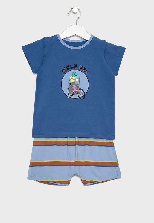 Kids Graphic T-Shirt + Short Set