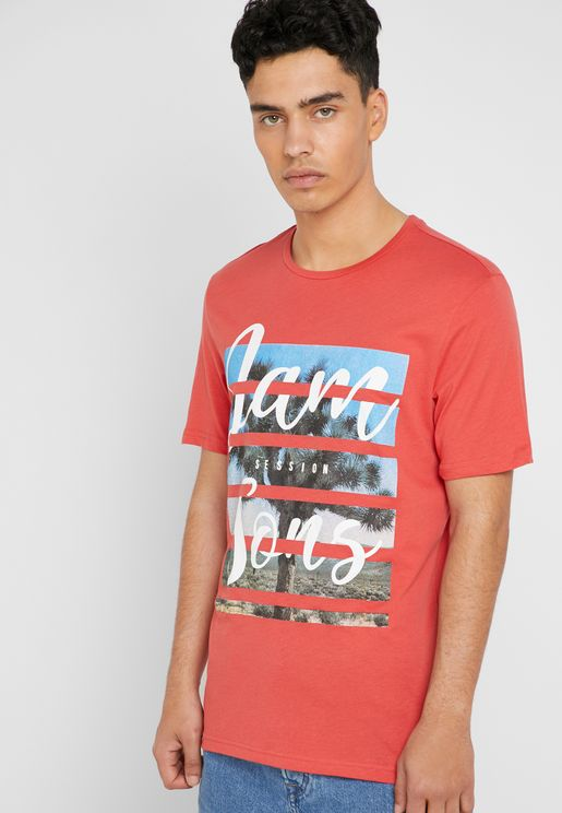 Pacifica Camp Crew Neck T-Shirt