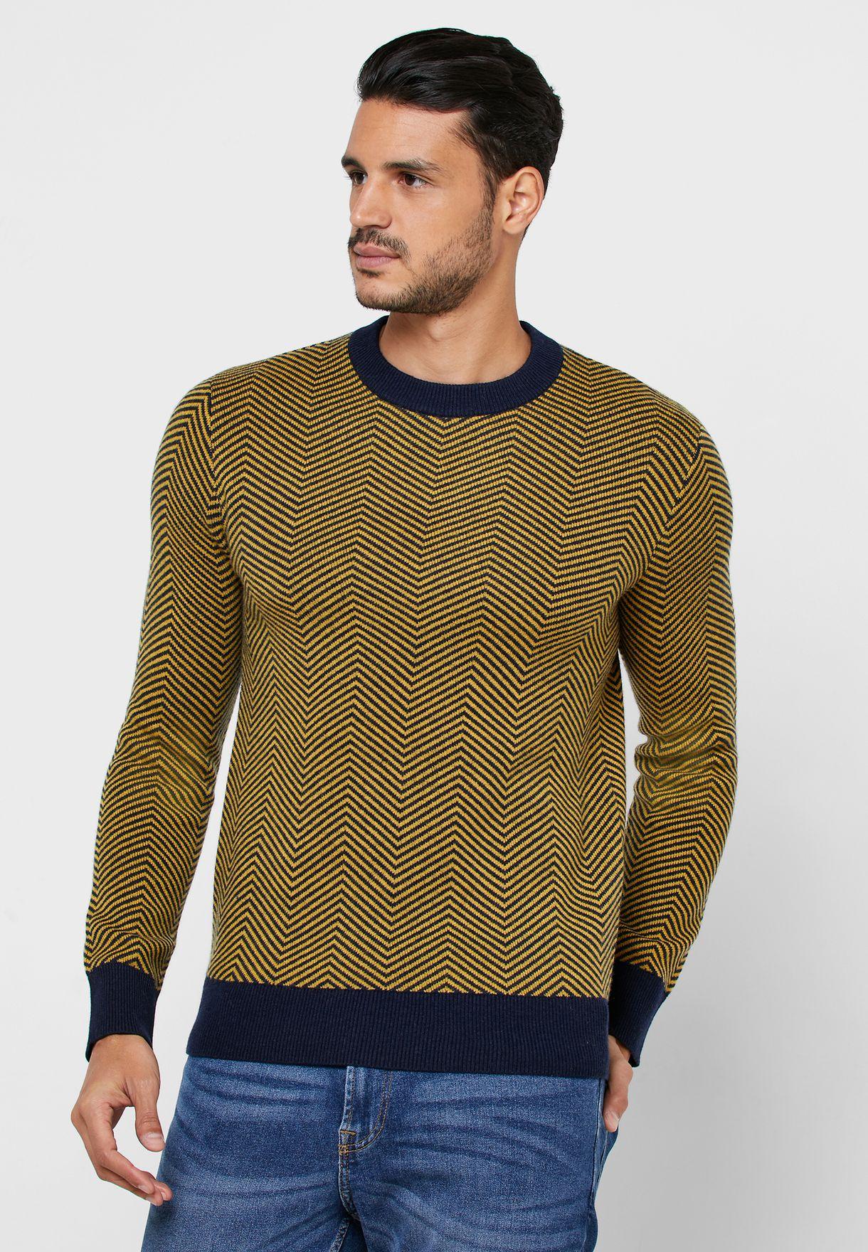 Herring Contrast Edge Sweater