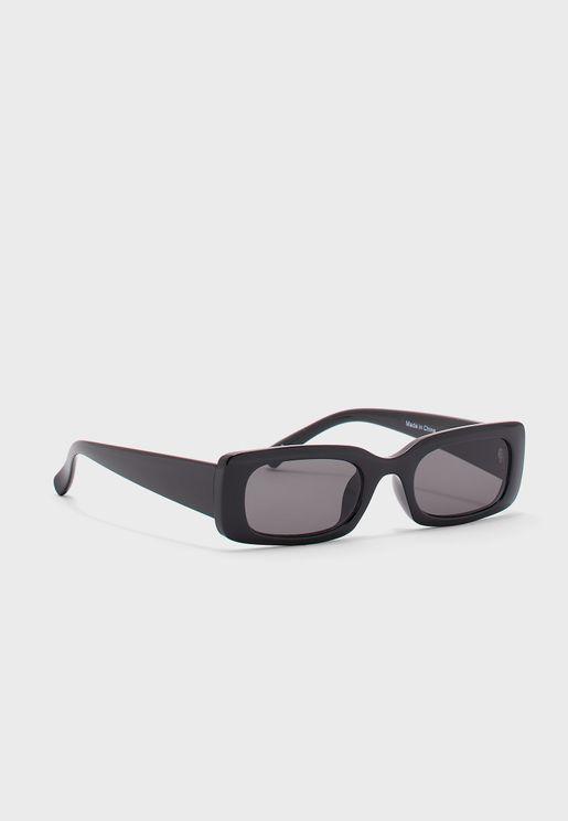 نظارة شمسية بعدسات مستطيلة