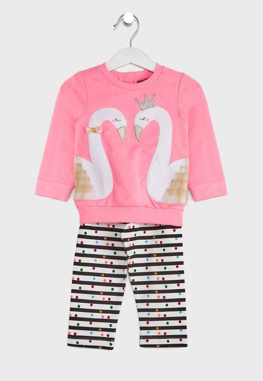 Infant Printed Clothing Set